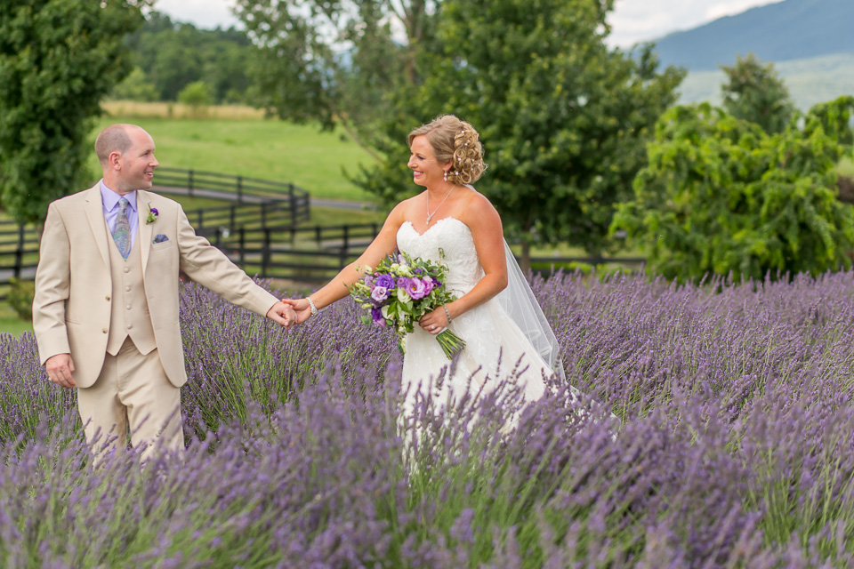 lavender farm, purple. wedding, bride, groom, lilac